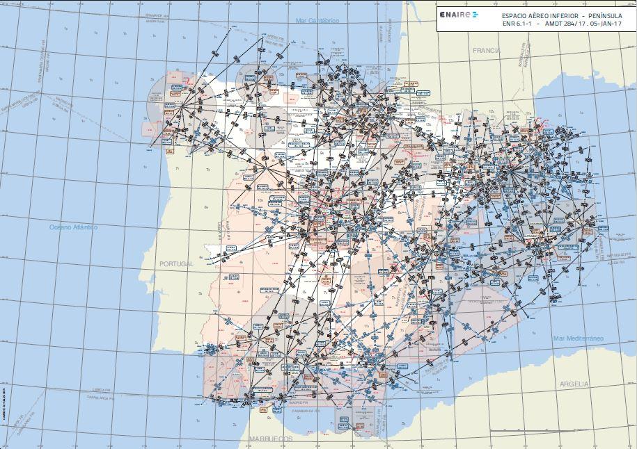 Centrales nucleares, el Palacio Real… Así es el espacio aéreo restringido