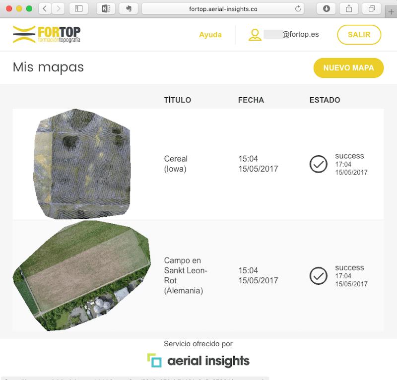 ejemplo de marca blanca de aerial insights