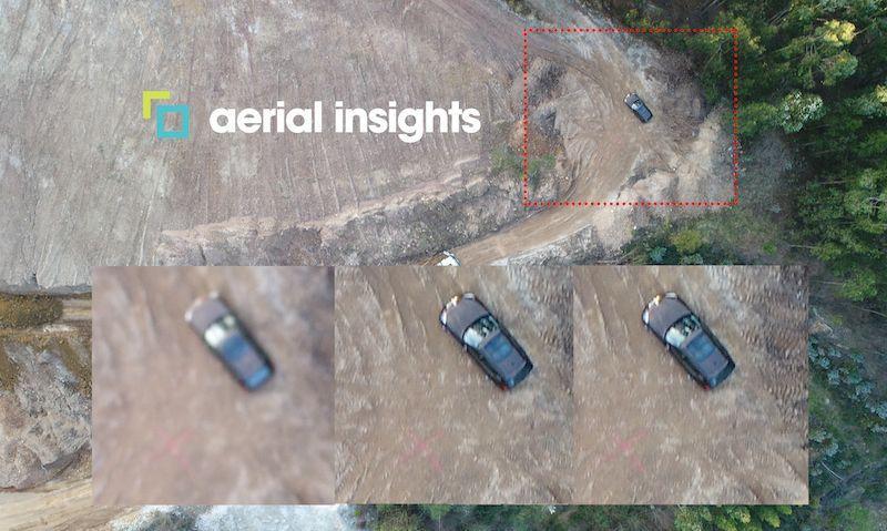 ejemplo de puntos de control con drone